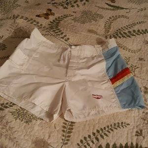 Vintage swim shorts xs rainbow side